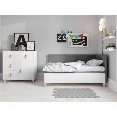 PLUTO plus postel 80x200cm, šedá