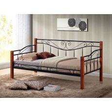 Kovová postel 90x200cm BONO, černá