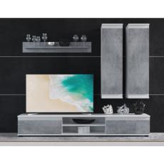 DIANA obývací stěna, bílá/beton