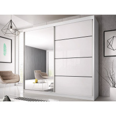 Šatní skříň EDDIE 35 - 230cm, bílá