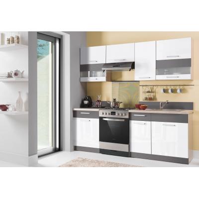 Kuchyňská linka MODENA 220, bílá lesk/grafit