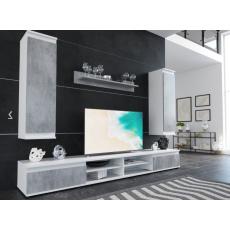 DIANA 2 obývací stěna, bílá/beton