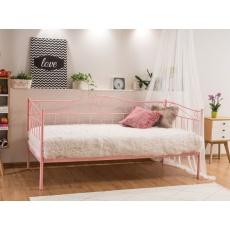 Kovová postel 90x200cm AMAL, růžová