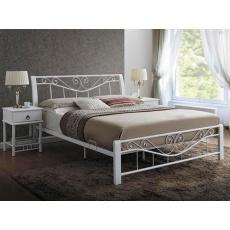 Kovová postel 160x200cm BRITA, bílá