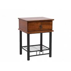 Noční stolek ET, kov-černá
