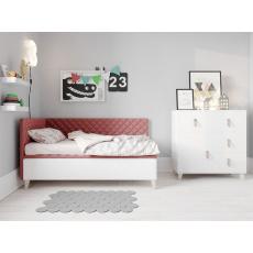 PLUTO plus postel 80x200cm, růžová
