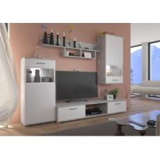 KAMILA obývací stěna, bílá/beton