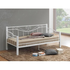 Kovová postel 90x200cm BONO, bílá