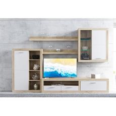 PALERMO obývací stěna, dub sonoma/bílá