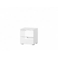 LISA noční stolek  32, bílá lesk