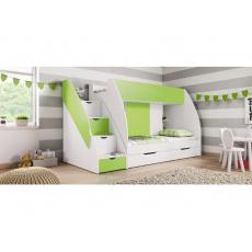 HUBERT patrová postel, zelená