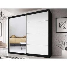 Šatní skříň EDDIE 35 - 230cm, černá