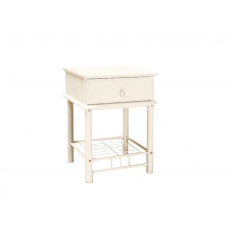 Noční stolek ET, kov-bílá