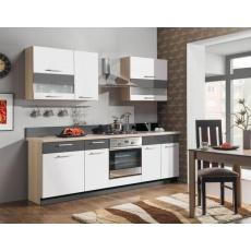 Kuchyňská linka MODENA 240, bílý lesk / grafit