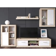 PLATÉ obývací stěna, dub sonoma / bílá