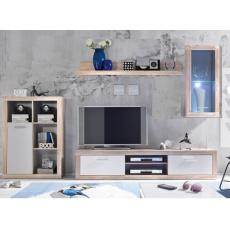 ANTIKA obývací stěna, dub sonoma/bílá