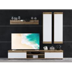 DIANA obývací stěna, dub taxo/bílá