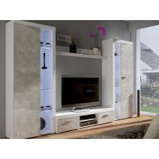 ROBIN PLUS obývací stěna, bílá/beton