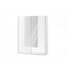 LISA šatní skříň 30, bílá lesk