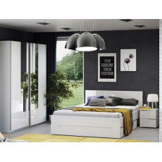 LISA ložnice, bílá lesk