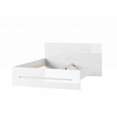 LISA postel 33, 160x200 cm, bílá lesk