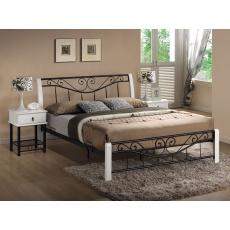 Kovová postel 160x200cm BRITA, bílá / černá