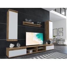 DIANA 2 obývací stěna, dub taxo/bílá